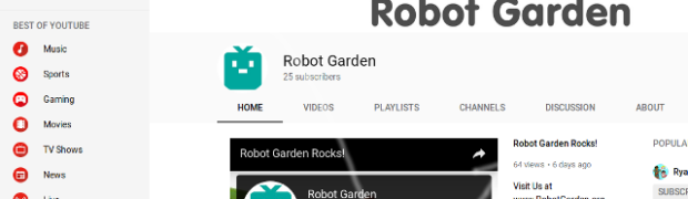 Robot Garden YouTube gets a fresh look